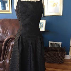 Black Swiss dot dress
